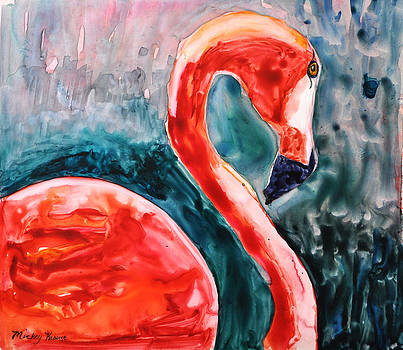 Flamingo Icon by Mickey Krause