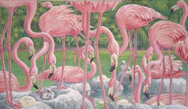 Flamingo Nursery by Bonnie Golden