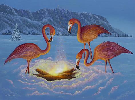 Flamingos by Joe Mckinney