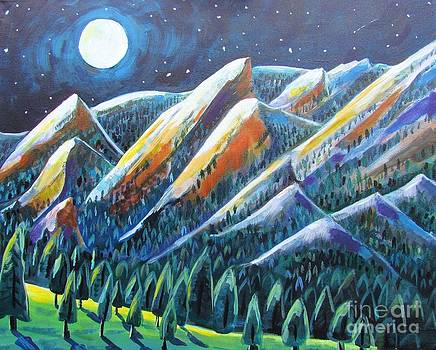 Flatirons in the Moonlight by Harriet Peck Taylor