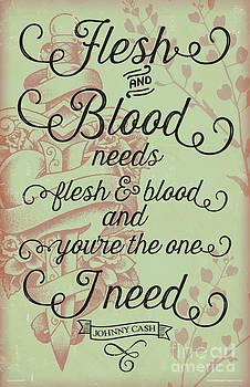 Flesh and Blood - Johnny Cash Lyric by Jim Zahniser