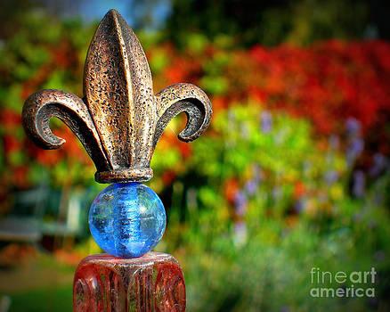 Fleur-De-Lis In The Fall by Heidi Manly
