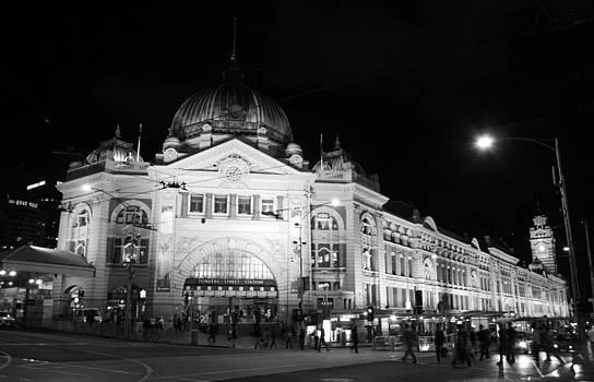 Flinders Station Melbourne Australia by Carl Koenig