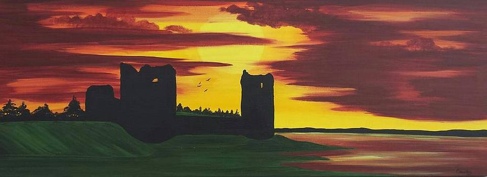 Flint Castle At Sunset by Paula Marley