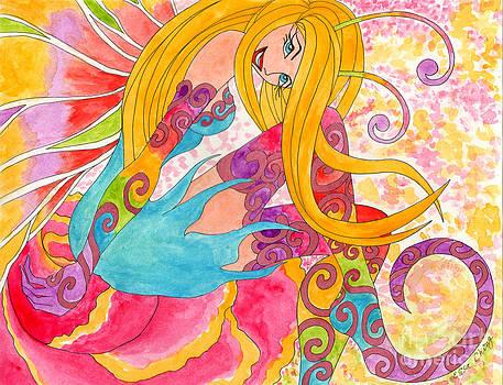Flirty Fairy with Rainbow Stockings by Elisa  Chong