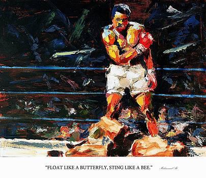 Float like a butterfly sting like a bee Muhammad Ali by Derek Russell