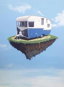 Floating Camper by Jeffrey Bess