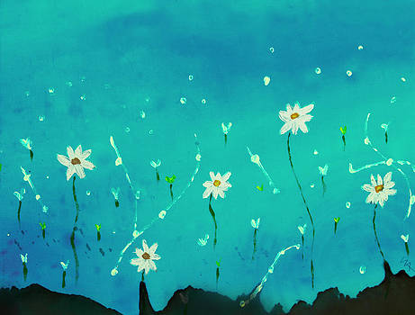 Floating Daisies by Sharon Clarke