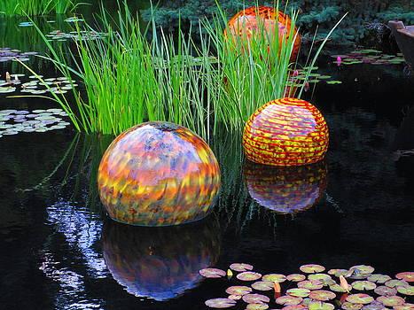 Floating Glass Balls by Elaine Haakenson