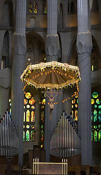 Lorraine Devon Wilke - Floating Jesus Of The Sagrada Familia in Vertical