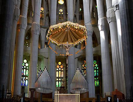 Lorraine Devon Wilke - Floating Jesus of the Sagrada Familia