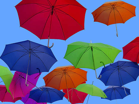 Floating Umbrellas  by Jim  Wallace