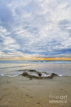 Susan Gary - Flooded Sandcastle on Beach