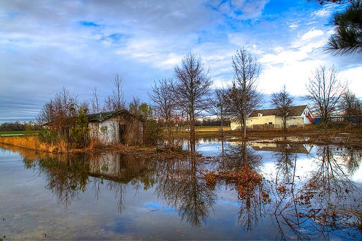 Flooded Shelter in Byron GA by Donna Vasquez