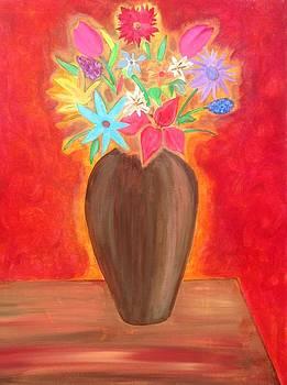 Flora in Vase by Eddie Pagan