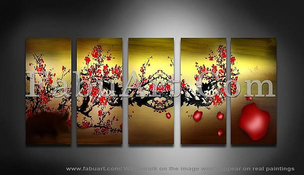 Floral Art Painting by FabuArt
