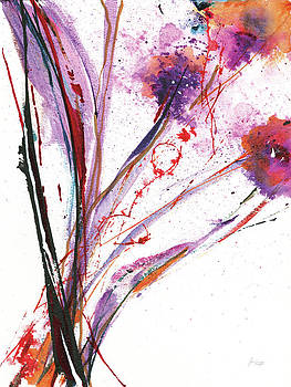 Floral Explosion Iii On White by Jan Griggs