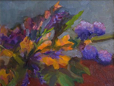 Floral Spray by Linda Rosso