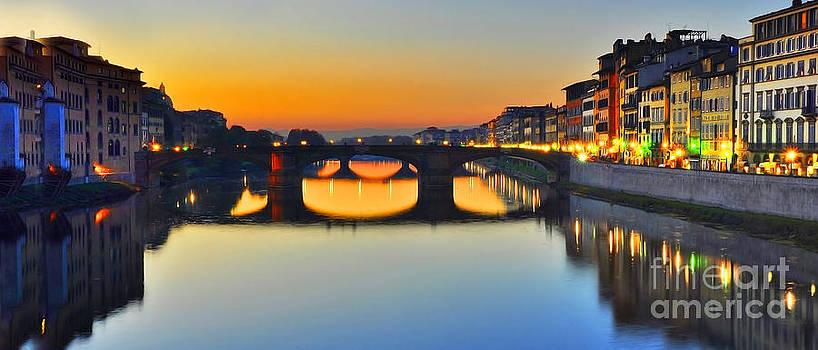 Florence at sunset by Lilianna Sokolowska