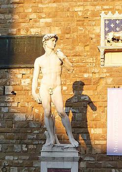Florence Italy Michelangelo David Replica by Irina Sztukowski
