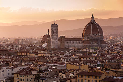 Florence skyline at sunset by Francesco Emanuele Carucci