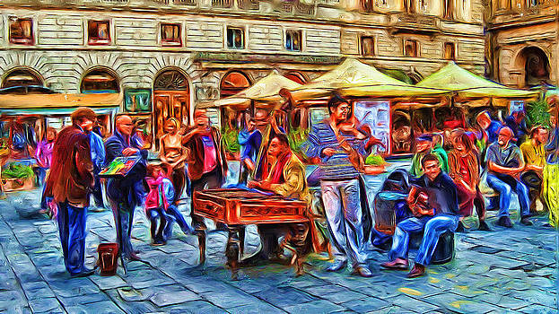 Florence Street Musicians by Cary Shapiro