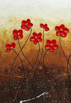 Flores de Mi Jardin 1 by Carmen Guedez