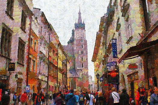 Florianska street by Boguslaw Florjan