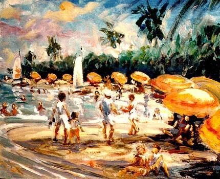 Florida beach by Philip Corley