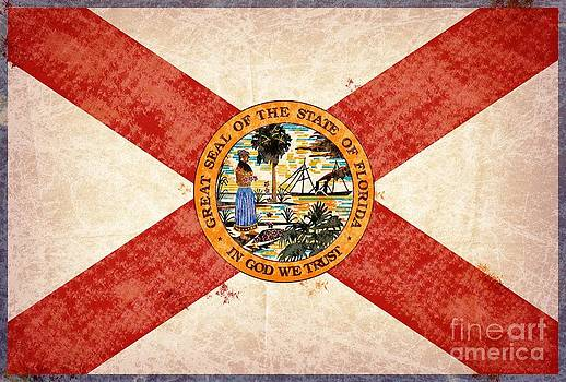 Florida state seal and flag. by T Lang