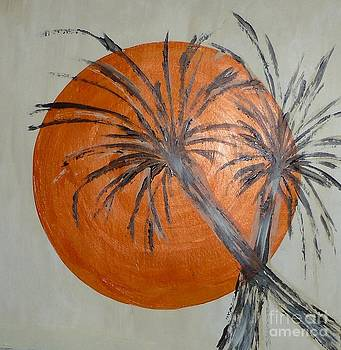 Florida Sun With Palms by Marie Bulger