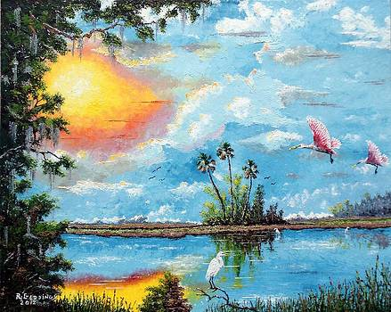 Florida Wilderness Oil using Knife by Riley Geddings