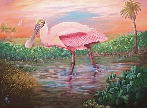 Florida Wildlife Roseatte Spoonbill by Fineartist Ellen
