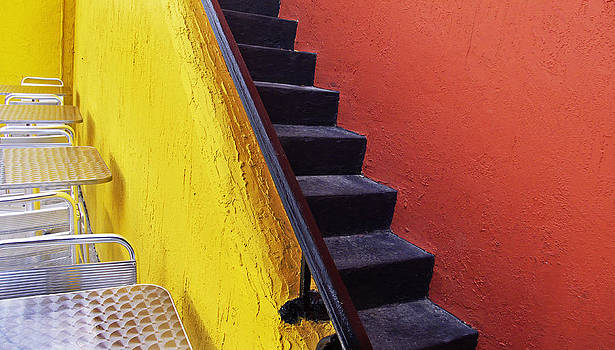Florida Yellow and Orange Wall Stairs by Andy Mars