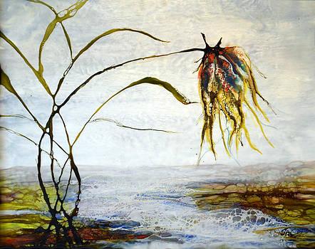 Flower and Babbling Brook by Jennifer  Creech