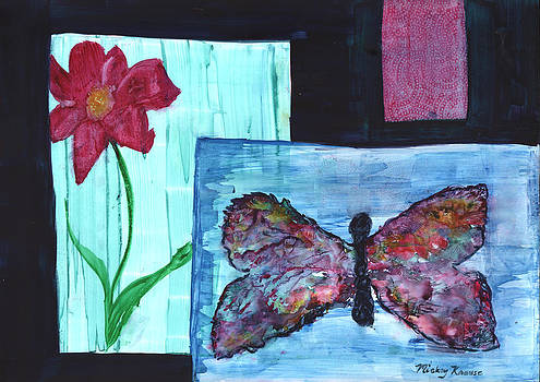 Flower and Butterfly by Mickey Krause