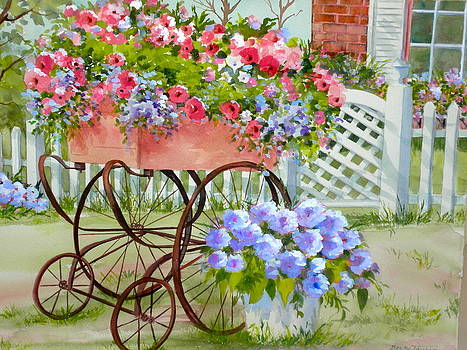 Flower Cart by Becky Taylor