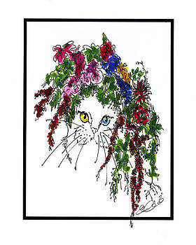 Flower Cat I by Elia Peters
