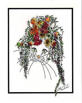 Flower Cat II by Elia Peters