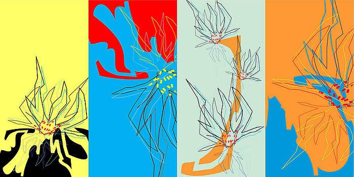 Flower Forms I 4 Combination by Joel Dynn Ingel Rabina