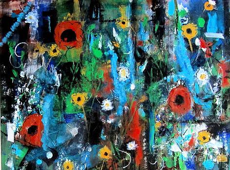 Flower Garden Abstract by Karen Day-Vath