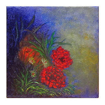 Flower Garden v1 Mini Art by Mary Sylvia Hines