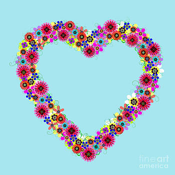 Flower Heart Wreath by Valerie Fuqua