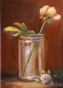 Flower in Glass Bottle by Michele Tokach