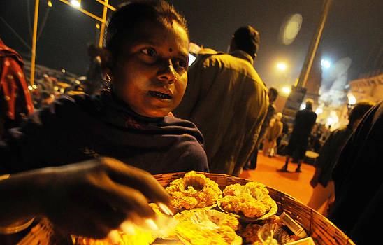 Flower seller by Money Sharma
