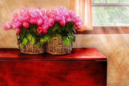 Mike Savad - Flower - Tulips by a Window