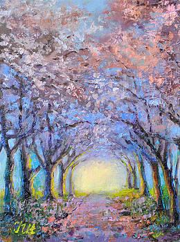 Flowering cherries. by Julia Utiasheva