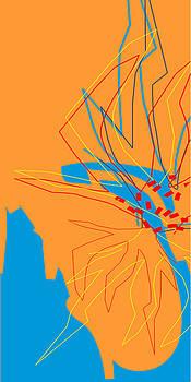 Flowering Forms Blue and Orange by Joel Dynn Ingel Rabina