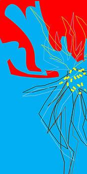 Flowering Forms Red and Blue by Joel Dynn Ingel Rabina
