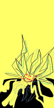 Flowering Forms Yellow and Black by Joel Dynn Ingel Rabina